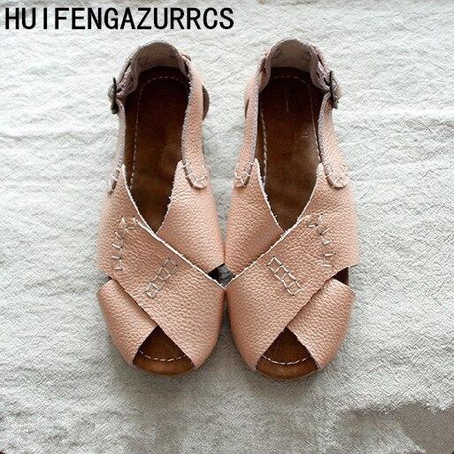 Zapatos de cuero genuino Careaymade 2019, sandalias casuales cómodas hechas a mano, zapatos de chica mori de arte retro, japonés zapatos-in Sandalias de mujer from zapatos on AliExpress - 11.11_Double 11_Singles' Day 1