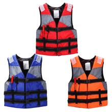 2019 New Adult Professional Swimming Life Jacket Vest For Drifting Snorkeling Fishing Suit Buoyancy With Whistle Fishing Boating