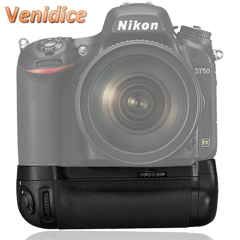 ФОТО Mcoplus Venidice VD-D750 Vertical  Battery Grip for Nikon D750 DSLR Camera Pack MB-D16 as EN-EL15 Battery as Meike MK-D750