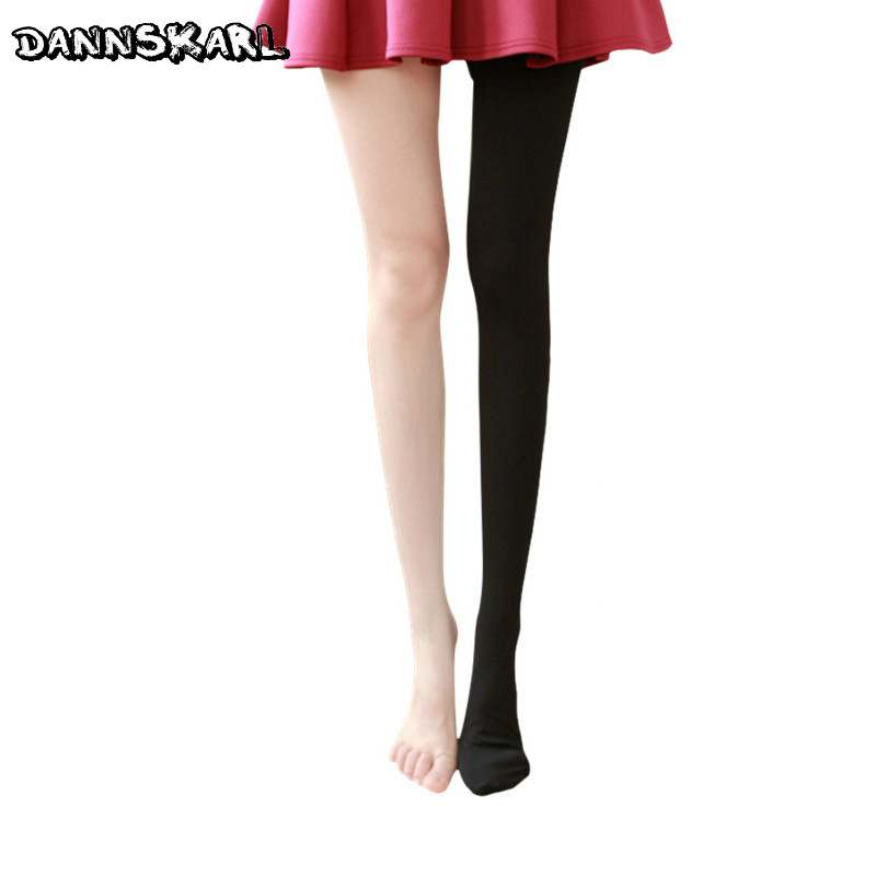 2018 Fashion Women Tights Winter Nylon Female Pantyhose Stockings Keep Warm Tights Women Collant Show Thin Female Hosiery Medias
