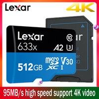Lexar micro sd карта памяти 512 Гб micro sd карты 128 gb 256 gb высокая скорость до Max 95 м/с Class10 633x micro sd флэш-карта TF карты
