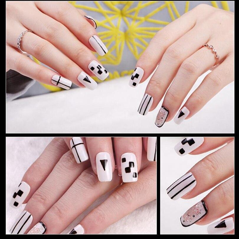 Ukiyo 15ML Gel Varnish Black White Red Color Nail Gel Polish Soak Off Nail Art Gel Polish Semi Permanent Nails Lacquer Varnishes 6