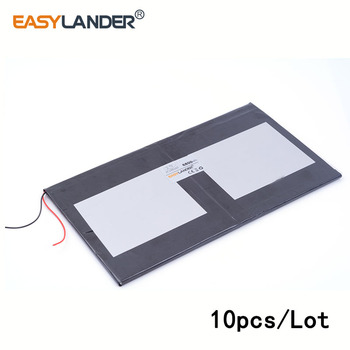 10pcs/Lot 3.7V 8800mAH 37100165 lithium Li ion polymer rechargeable battery for tablet pc cell phone speaker Power bank e-book