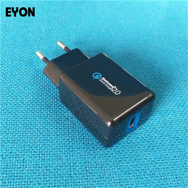 EYON 18W Quick Charge 2.0 9V USB Turbo Wall Charger QC 2.0 Fast - Mobiltelefon tilbehør og reparation dele