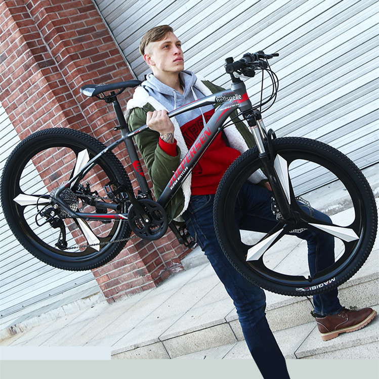 New Aluminum Alloy Frame 26 Inch Wheel 24/27/30 Speed Dual Disc Brake Mountain Bike Outdoor Sports MTB Bicycle