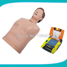 Desfibrilador Externo automático E CPR Training Manequim de Meio Corpo, simulador Desfibrilador Externo, Manequim CPR