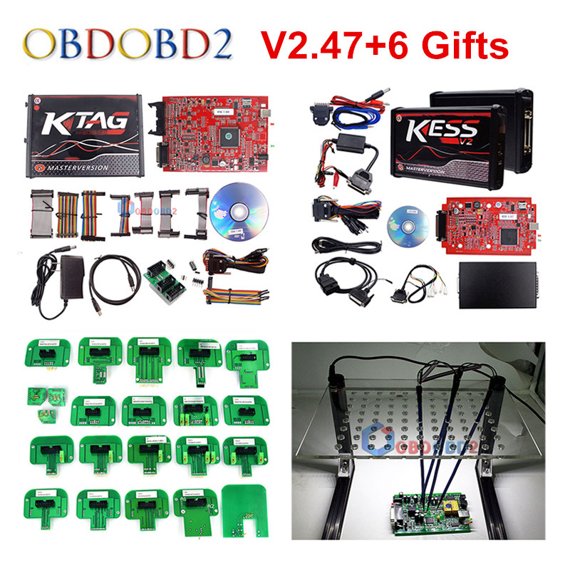 Unlocked No Token RED KESS V2 V5.017 V2.47 ECU Chip Tuning EU Online KESS 5.017 4 Led KTAG 7.020 2.23 Manager Tuning Kit kess newest v2 28 obd2 tuning kit kess v2 fw4 036 sw2 28 ecu chip tuning tool free ecm titanium software free ship