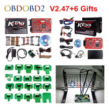 Newest Ktag V2.13 V6.070 Master Version ECU Chip Tuning Tool K TAG + KESS V2  FGTECH V54 Galletto 4 DHL Free Shipping v2 47 online eu red kess v2 5 017 master obd2 manager tuning kit kess v5 017 4 led ktag v7 020 bdm frame k tag 7 020 ecu chip