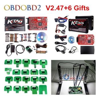Unlocked No Token RED KESS V2 V5.017 V2.53 ECU Chip Tuning EU Online KESS 5.017 4 Led KTAG 7.020 2.23 Manager Tuning Kit