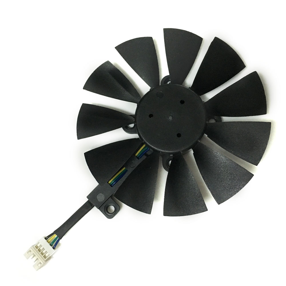 Computer video card Cooling Fan GPU VGA Cooler For ASUS STRIX GTX980Ti R9 390X 390 graphics card cooling as replacement free shipping diameter 75mm computer vga cooler video card fan for his r7 260x hd5870 5850 graphics card cooling
