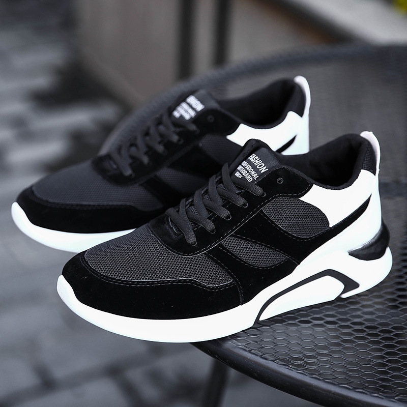 Hot explosions light and comfortable mens sports shoes youth trend wear-resistant deodorant breathable mesh casual men