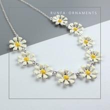 Fashion Charming White Flower Choker Necklace New Stylish Small Daisy Necklace Jewelry Accessory