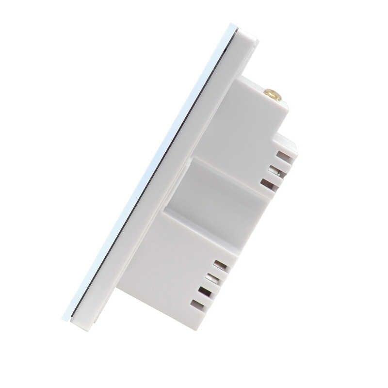 Sonoff T1 sterowanie dotykowe ścianie włącznik światła 1/2/3 Gang 86 typ wielkiej brytanii Panel ścienny dotykowy przełącznik oświetlenia inteligentny dom inteligentny WiFi RF/APP