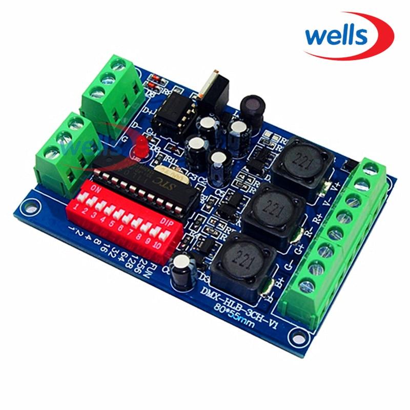 DMX 3CH RGB kontroler sa konstantnom strujom 350ma, velika snaga, - Različiti rasvjetni pribor - Foto 1