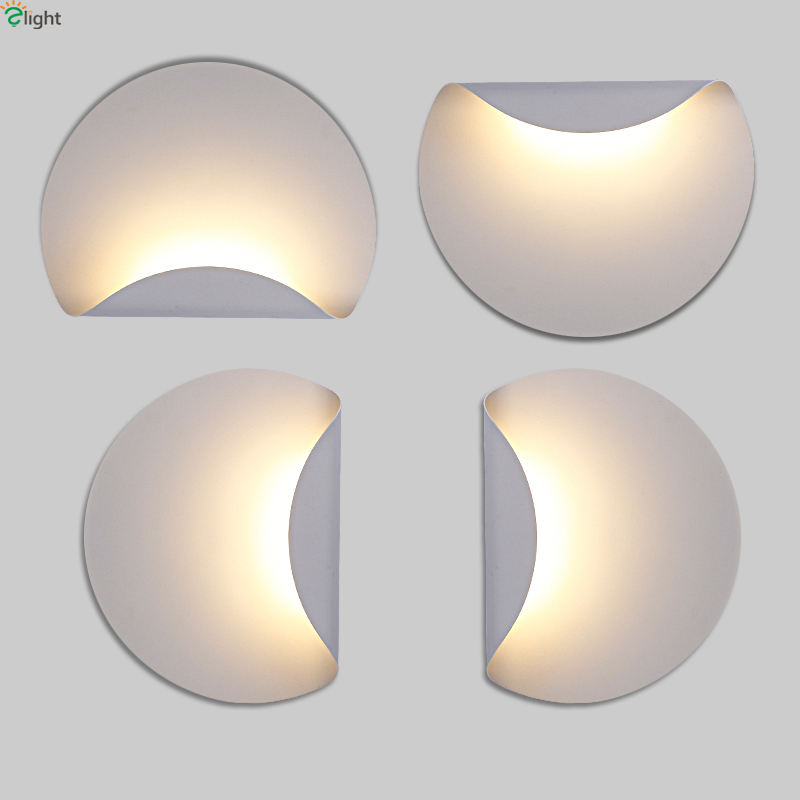 Modern Minimalism Led Wall Lamp White Metal Bedroom Led Wall Lights Living Room Led Wall Light Corridor Led Wall Sconce Fixtures new design nature white 2heads 6w 30cm led modern crystal wall lights lamp sconce factory wholesale led lightings