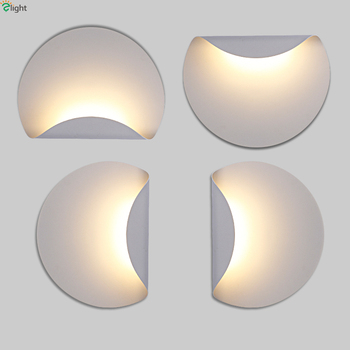 Modern Minimalism Led Wall Lamp White Metal Bedroom Led Wall Lights Living Room Led Wall Light Corridor Led Wall Sconce Fixtures