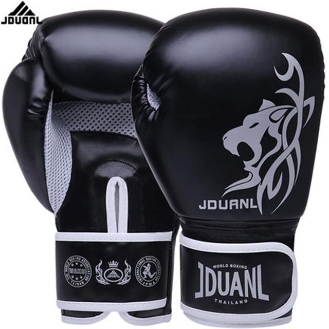 a42dee60a 10 oz PU Muay Thai Boxing Gloves MMA Sanda Martial Kungfu Women Men  Fighting Sandbag Training Mitts luvas boxeo Guantes 568TT