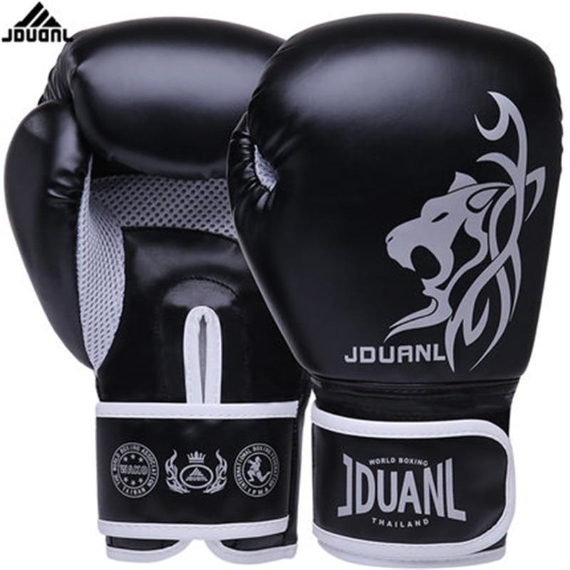 10 oz PU Muay Thai gants de boxe MMA Sanda Martial Kungfu femmes hommes combat sac de sable mitaines d'entraînement luvas boxeo Guantes 568TT