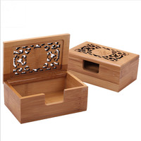 Business Card Holder Case Bamboo Wood Handiwork Free Shipping Desktop Type Personality Card Holder Stationery Creative