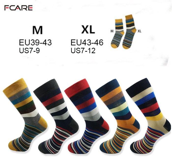 10PCS=5 pairs men stripe colorful fashion socks crew dress socks happy Funky Colorful Argyle Striped hockey sock