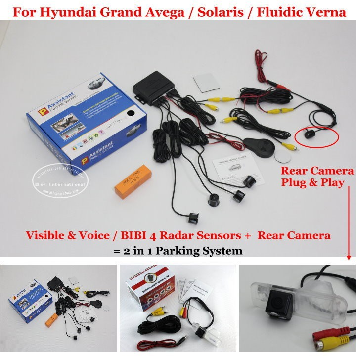 Hyundai Grand Avega  Solaris  Fluidic Verna parking system