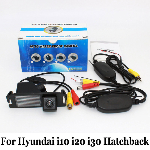 For Hyundai i10 i20 i30 Hatchback / RCA AUX Wire Or Wireless Car Parking Cameras / HD CCD Night Vision Auto Rear View Camera