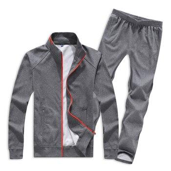 Tracksuit Men Set 2019 Spring Autumn Winter Men Sports Suit  2 Pieces Set Sweatshirt Jacket + Pants Plus Size L-8XL For 140KG