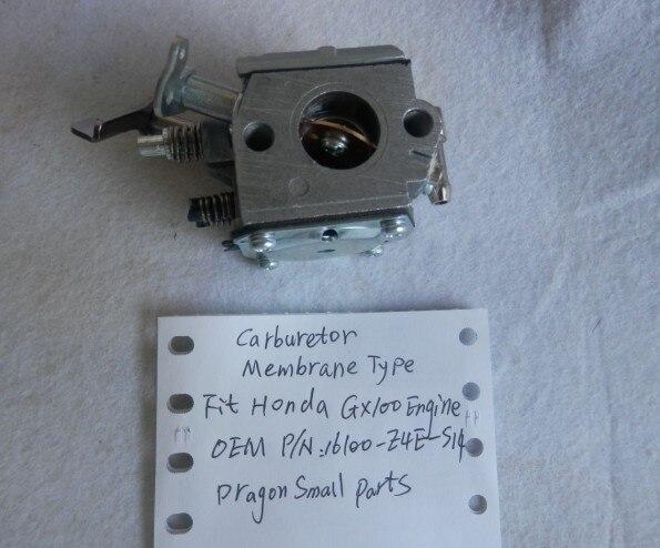 GX100 карбюратор мембранного типа 17 мм для HONDA GX100U Раммер промышленное оборудование Карбюратор OEM P/N 16100-Z4E-S14