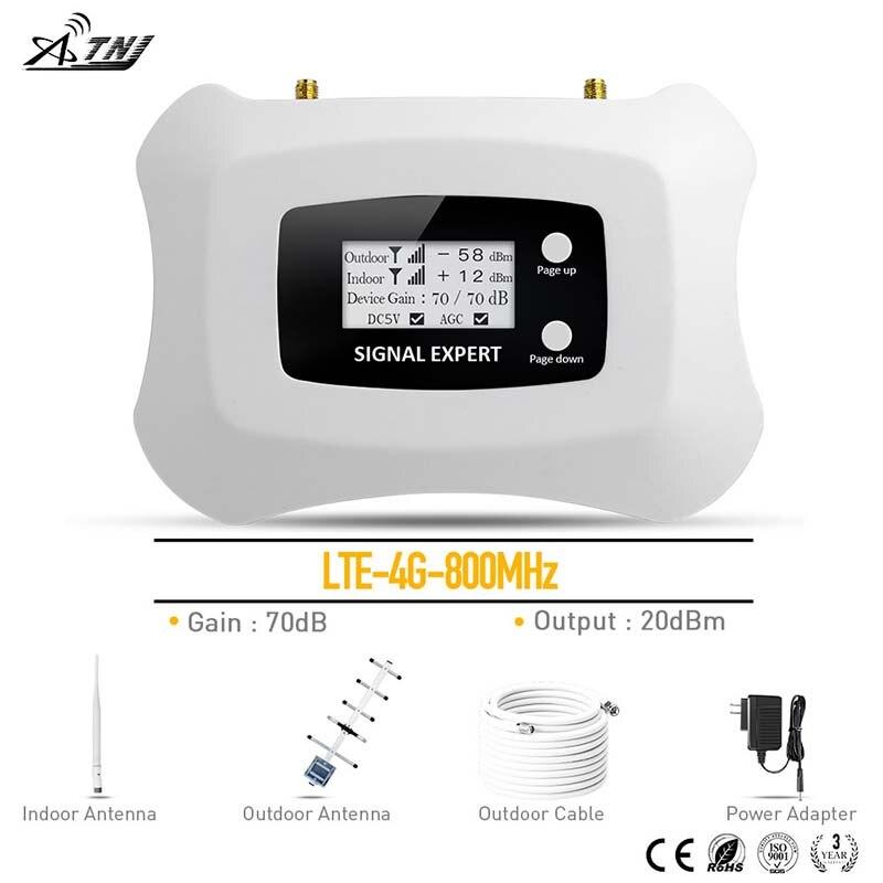 4g LTE 800 mhz Signal Répéteur Mobile Signal de Téléphone Répéteur RU Cellulaire Amplificateur MTS Beeline Vodafone 4g signal amplificateur kit