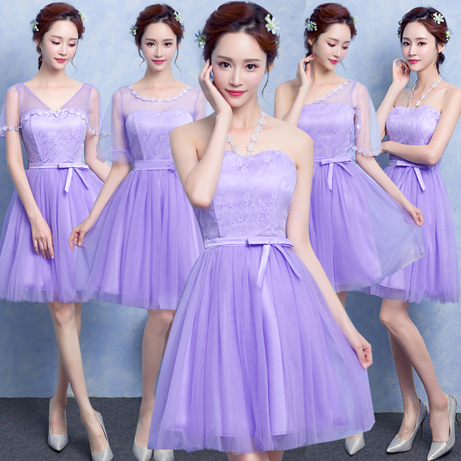 Sweet Memory champagne bridesmaid dress bride wedding pink purple lilac  blue bridesmaid dresses SW0013A-in Bridesmaid Dresses from Weddings    Events on ... 2f926b884672