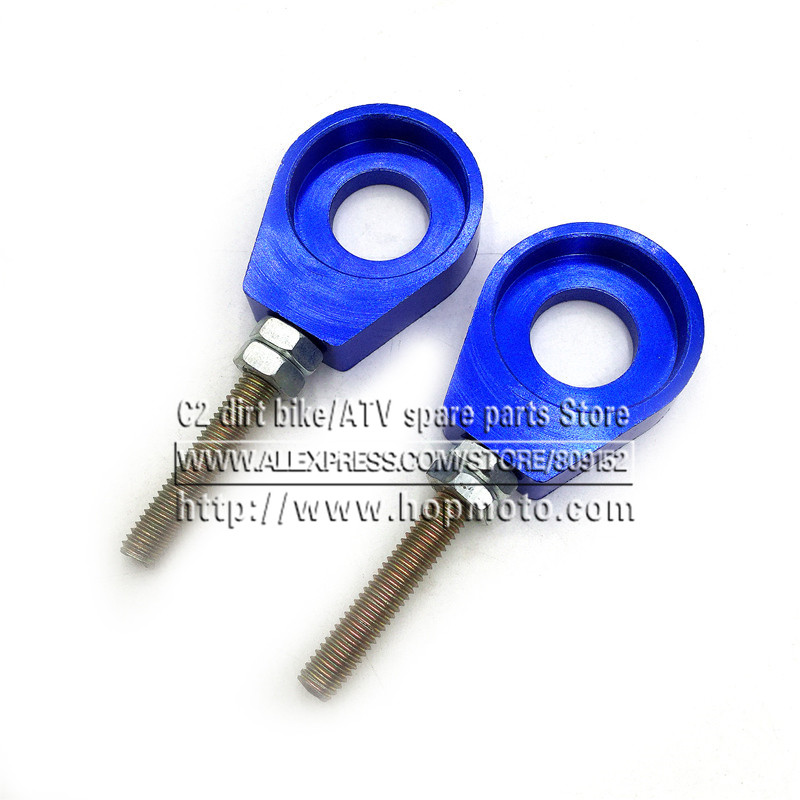 110cc 125cc 140cc Aluminum Chain Tensioner Adjuster Dirt Bike Pit ATV Motorcycle Scooter 12mm or 15mm Rear Wheel axle hole 110cc 125cc 140cc aluminum chain tensioner adjuster dirt bike pit atv motorcycle scooter 12mm or 15mm rear wheel axle hole