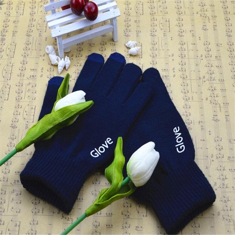 Мода сенсорный экран Перчатки мобильного телефона смартфон Перчатки вождения экран перчатки подарок для мужчин и женщин зимние теплые Пер...