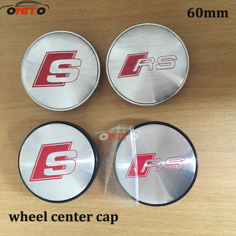 20PCS 56mm 60mm Chrome S LINE SLINE Wheel Hub Cap Center Caps Badge Emblem For audi A3 A4 A5 A6 A7 A8 S3 S4 S5 S6 S7
