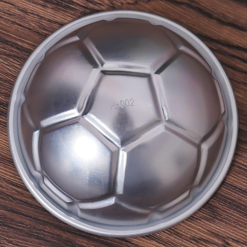 2 шт diy 3d форма для футбола банных бомб тортов алюминиевый