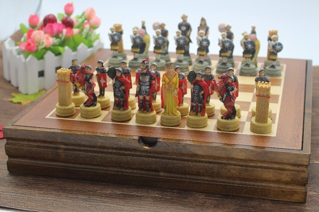 US $188 0 |The Ancient Arabian Resin Characters Dolls Chess Set Resin Mold  Classic International Cartoon Chess Ancient Chess Free Shipping-in Chess