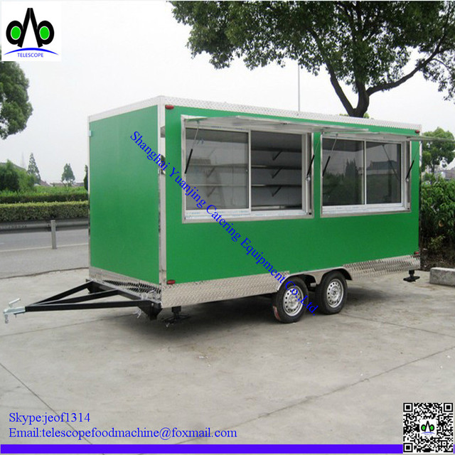 TELESCOPE Brand YJ FCT02 Mobile Fast Food Cart Hot Dog Truck Coffee And Ice