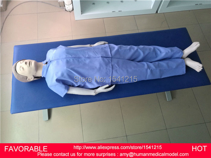 FEMALE/MALE CPR MEDICAL TRAINING MANIKIN /MODEL,SIMULATION MANNEQUINS BASIC FULL BODY CP ...