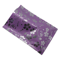 DHL Heat Seal Purple Open Top Mylar Package Bag Party Food Snack Candy Tea Vacuum Package Pouch Storage Bags With Printing