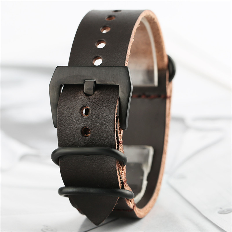20mm 22mm High Quality Cow Leather Band Genuine Leather Watch Strap for Men Wristwatch Replacement Pin Buckle Bracelet Bangle все цены