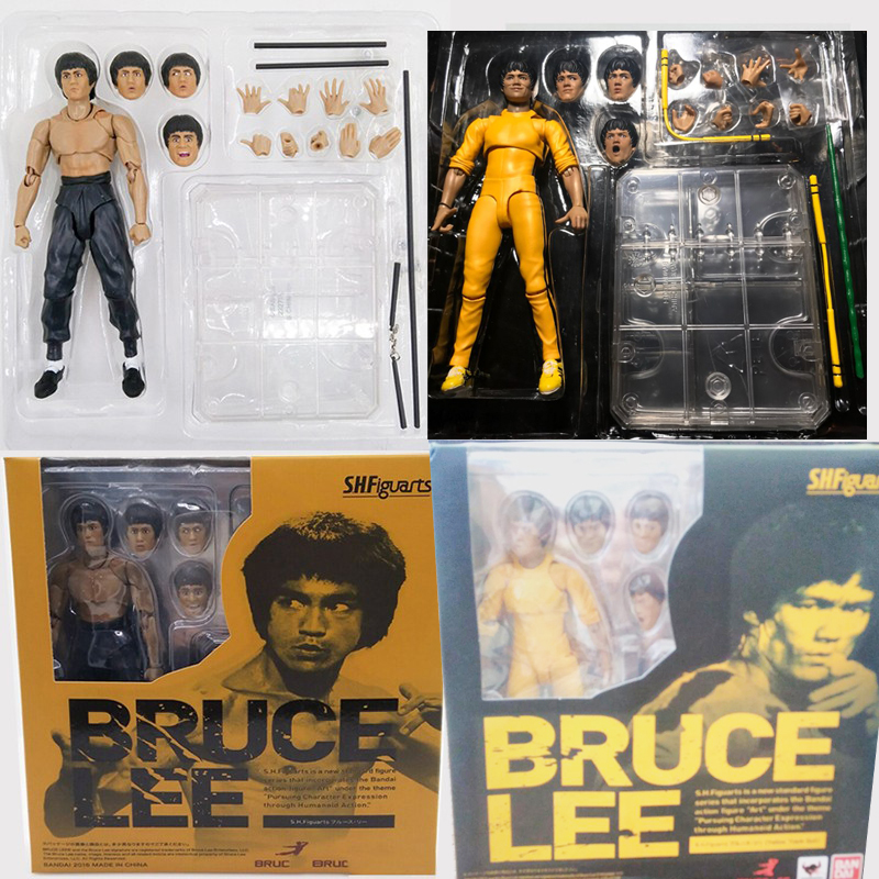 SHFiguarts King of Kung Fu Bruce Lee Variant with Nunchaku Action Figure Collectible Model Toy 15cm image