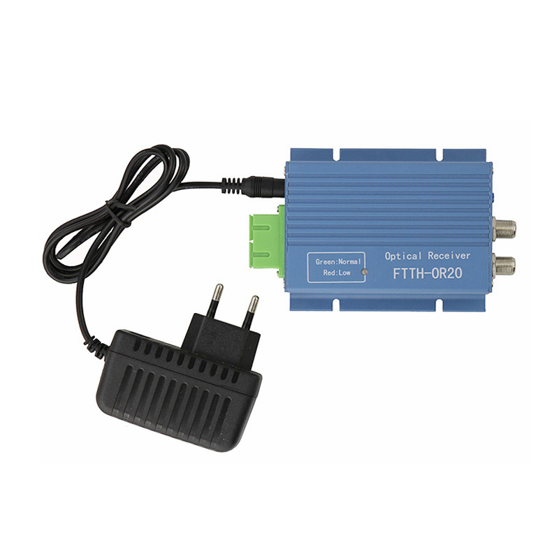 output 2 port and input 2 port CATV AGC Mini Optical Receiver Aluminum Shell SC/APC 45 ~ 862Mhz With AGS(nd WDM Model ORH-1020AW