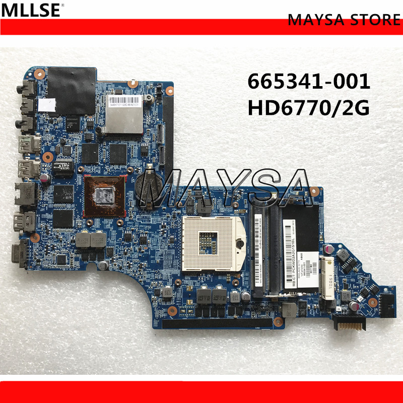 665341-001 For HP Pavilion DV6T DV6-6000 laptop motherboard HD6770 2GB DDR3 100% working 744009 501 744009 001 for hp probook 640 g1 650 g1 motherboard socket 947 hm87 ddr3l tested working