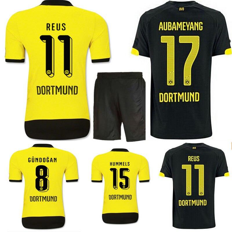 ... Top 2015-2016 Season Borussia Dortmund REUS GUNDOGAN home Soccer Jersey  15-16 HUMMELS ... 6c1d82c6d635d