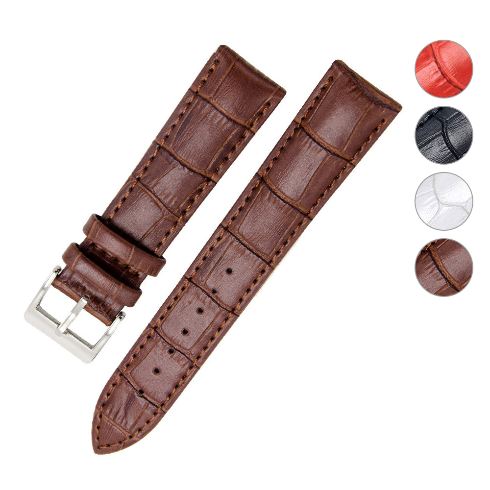 2 0 Mm Bands: 18mm 20mm 22mm Watch Bands Genuine Leather Strap For