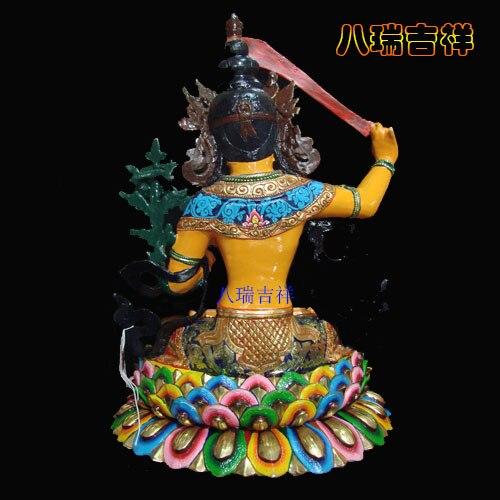Nepal handicrafts/tantric Buddha manjusri bodhisattva Buddha/pure copper and gold coloured drawing or pattern / 33 cm high - 4