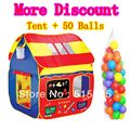Kids Gift Quality Large 1.36 M Child Tent+50 Ocean Balls Kids Game House 5.5CM Wave Balls Indoor &Outdoor Play Tent  ZP5006