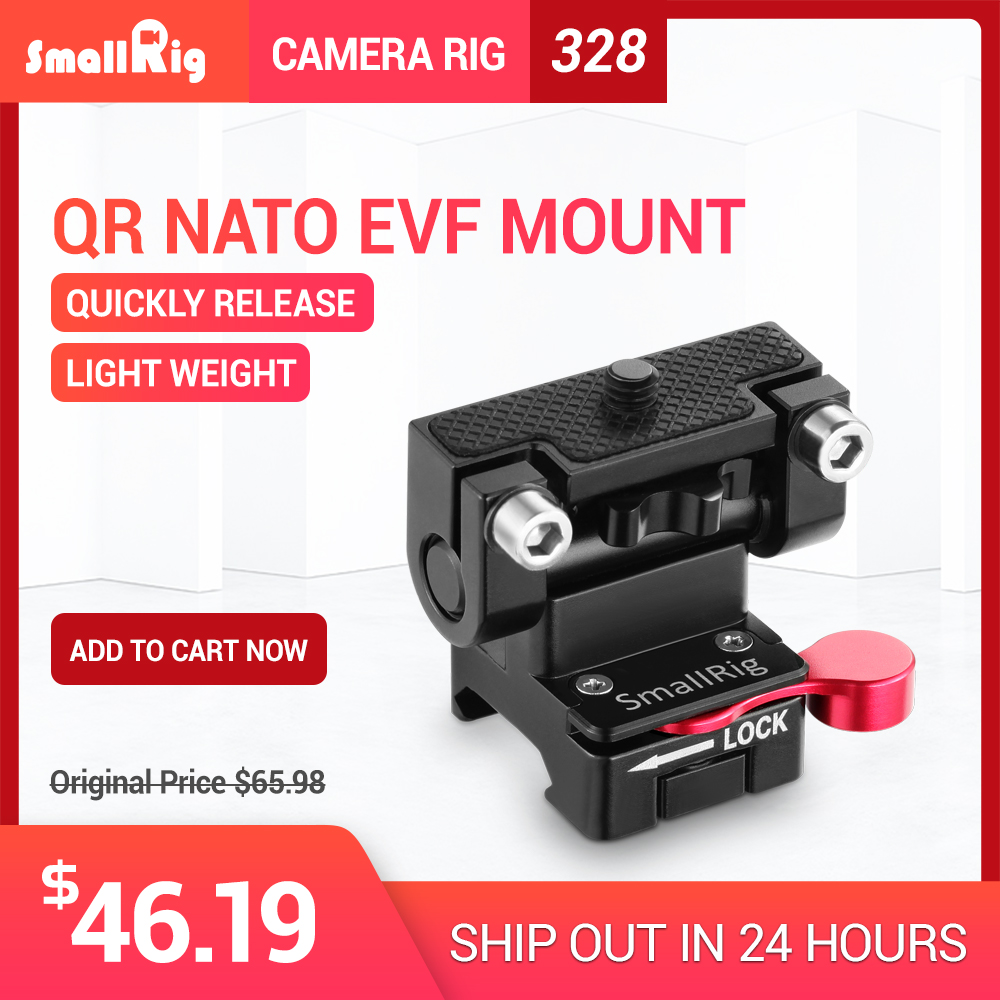SmallRig Cámara Dual EVF montaje con la OTAN abrazadera de liberación rápida Monitor ajustable soporte para enfoque de seguimiento