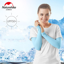 NATUREHIKE Outdoor anti-UV Ice Fabric Cycling Arm Warmers Men Women Sleeve Half-finger Arm seamless sleeves Summer Sports Safety juqi w09 anti uv tattoo pattern seamless sleeve for cycling black red multi colored 2 pcs