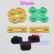 50sets Rubber Button Contact Pad Set for PS2 PlayStation 2 Controller Start Select