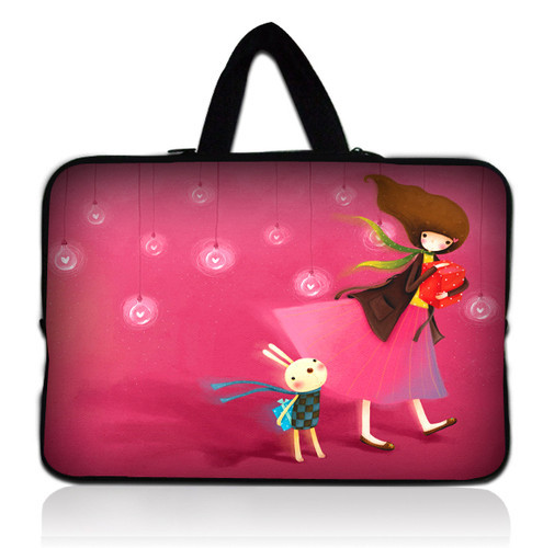 """Free Shipping Cute Girl 15"""" Laptop Carry Bag Case Cover For 15.6"""" Dell HP Pavilion /Acer Aspire"""